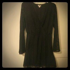 Crochet little black dress